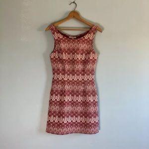 90s Mod Geometric Sleeveless Mini Dress Rampage S